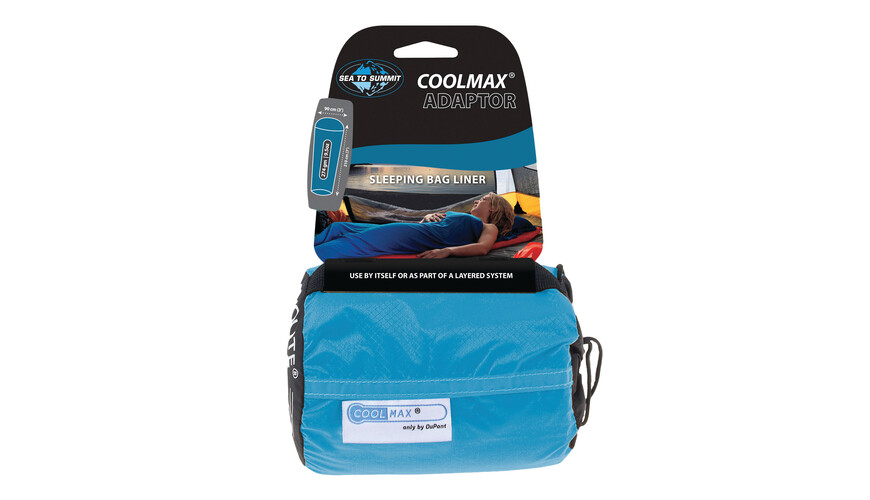 Sea to Summit Coolmax Adaptor Traveller Liner Slaapzak blauw